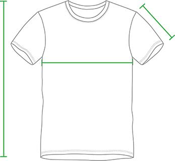 Tabela t-shirt