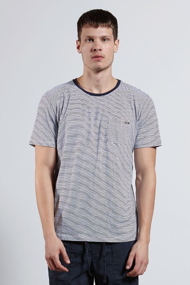Ref.-8204493---T-shirt-mc-malha-blend-stripe-pocket-Cor-Branco---R-6300-01