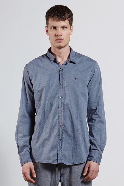 Ref.-8204367-18302----Camisa-ml-alg-jacquard-chicago-Cor-Azul---R-12600-04_frente