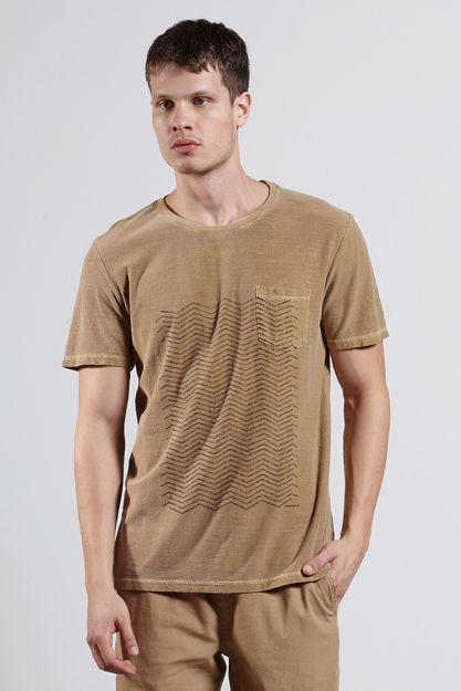 Ref.-8204256-18228----T-shirt-mc-malha-graphic-lines-Cor-Caqui---R-6300-03_frente