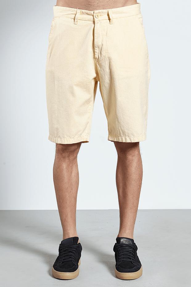 Ref.-17801---Bermuda-Sarja-Delaze-Shambray-amarela---frente