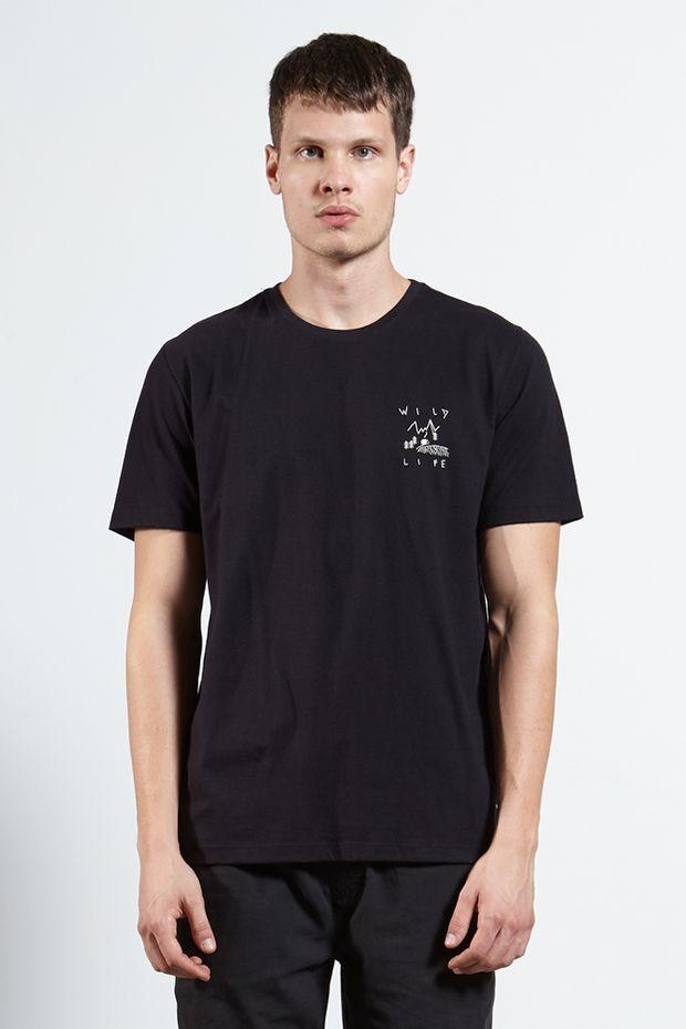 Ref.-18328---Tshirt-Wild-Dark-Life---Preto---Frente