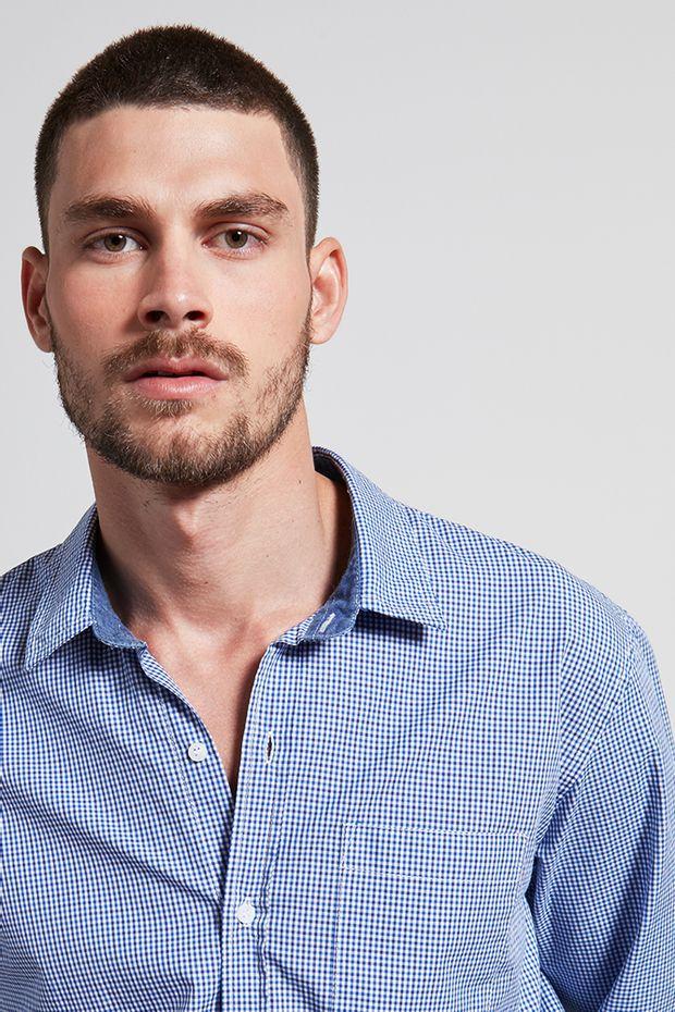 Ref.-18721--Camisa-algodao-xadrez-Lemer-azul---detalhe-frente