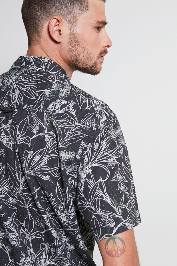 Ref.-18900---Camisa-Algodao-desert-garden-preto---Costas
