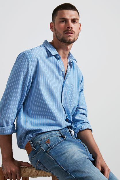 Ref.-Camisa-algodao-listrada-downriver-azul---lado