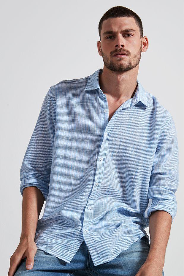 Ref.-18705---Camisa-algodao-listrada-maritima-azul---frente-2