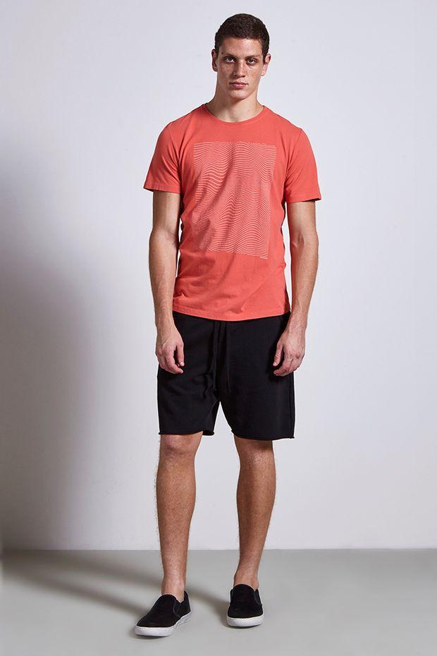 T-shirt-sea-lines-salmao---frente